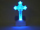 Krzyż świecący Mały – kolor biały wys. Ok. 12,5 cm (2)