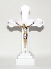 Krzyż świecący duży – kolor biały, wys. 17 cm (2)
