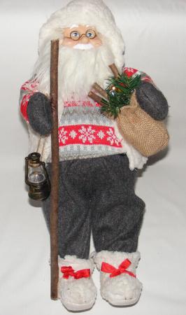 Mikołaj 50 cm - urokliwy Mikołaj w białej kamizelce (1)