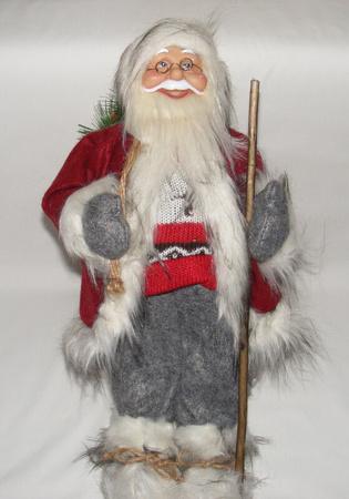 Mikołaj czerwony 50 cm - Mikołaj w klasycznym ale jakże pięknym  stroju (1)