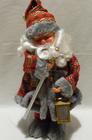 Mikołaj 40 cm szaro-czerwony - wspaniały dobór kolorów w stroju Mikołaja (2)