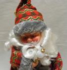 Mikołaj 40 cm szaro-czerwony - wspaniały dobór kolorów w stroju Mikołaja (3)