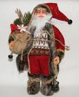 Mikołaj 32 cm czerwony  z brązowymi dodatkami- spokojne kolory to walory tej ozdoby (1)