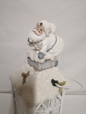 Lampion metalowy z Mikołajem lub aniołkiem (1)