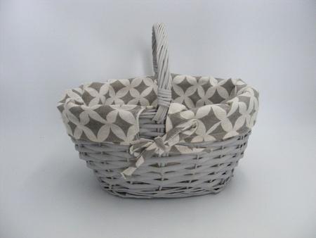 Koszyk szary z materiałem (1)