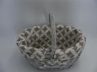 Koszyk szary z materiałem (2)