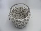 Koszyk szary z materiałem (3)