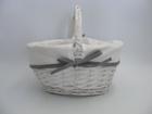 Koszyczek biały z materiałem (1)