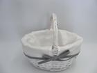 Koszyczek biały z materiałem (2)