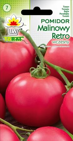 Pomidor Malinowy Retro [0,5g] - wczesny, plenny (1)
