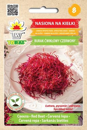 Kiełki Burak Ćwikłowy czerwony [10g] (1)