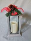 Lampion latarnia z dekoracją świąteczną (2)