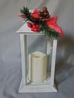 Lampion latarnia z dekoracją świąteczną (3)